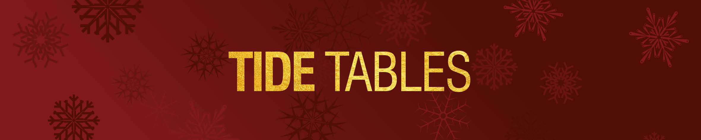 Christmas Tide Tables Banner 19